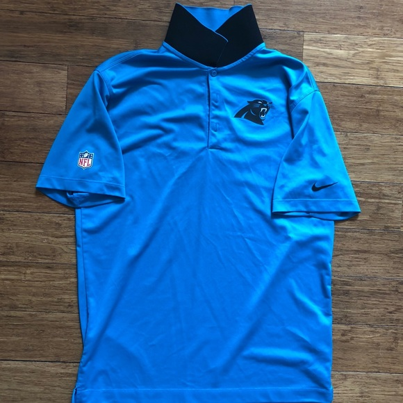 Carolina Panthers Nike Dri-Fit polo. Authentic NFL.  M 5a74b1438290af7807e094d5 b9816a556